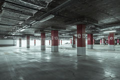 Empty parking garage Royalty Free Stock Photography