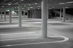 Empty parking garage royalty free stock images