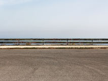 Empty parking with guardrail Stock Photos