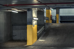 Empty Parking Interior (day) Royalty Free Stock Image