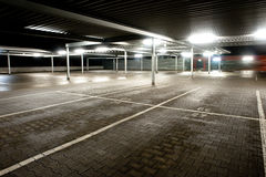 Empty parking level Stock Photos