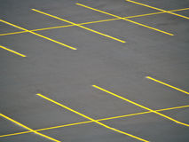 Empty Parking Lot. An empty parking lot freshly built and painted Stock Image