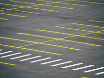 Empty Parking Lot. An empty parking lot freshly built and painted Royalty Free Stock Images