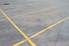 Empty parking lot. Pavement and stall lines Royalty Free Stock Image