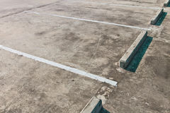 Empty parking lot. Can use as background Stock Images