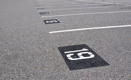 Empty parking lot Royalty Free Stock Photography