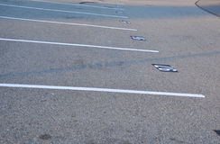 Empty parking lot. An empty parking lot freshly built and painted Royalty Free Stock Photography
