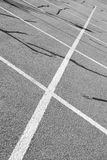 Empty Parking Lot. Visual design of an empty parking lot Royalty Free Stock Photo
