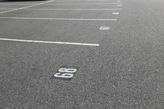 Empty parking lot. An empty parking lot freshly built and painted Royalty Free Stock Image