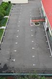 Empty parking lot. Empty car park as viewed from above Royalty Free Stock Images