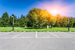 Free Empty Parking Lot Royalty Free Stock Photography - 45858247