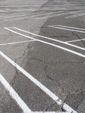 Empty parking lot. Low angle view of parking lot Stock Photo