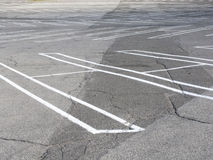 Empty parking lot. Low angle view of empty parking lot Royalty Free Stock Image