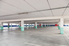 Empty parking lot area Stock Images