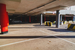Empty parking lot area Royalty Free Stock Photography