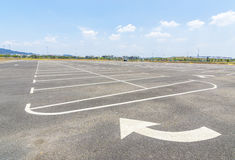 Empty parking lot Stock Photos