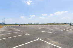 Empty parking lot Stock Photography