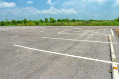 Empty parking lot Royalty Free Stock Photo