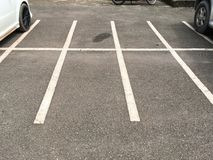 Empty parking lot. Close up empty parking lot Royalty Free Stock Photography