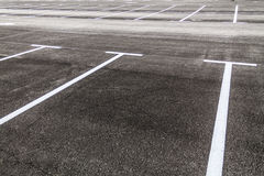 Empty parking lot Royalty Free Stock Photos