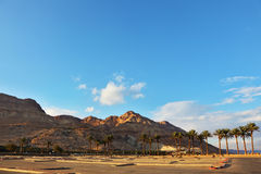 An empty parking lot at the Dead Sea Royalty Free Stock Image