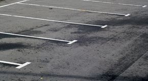 Empty parking lot. Abstract background and pattern Stock Photos
