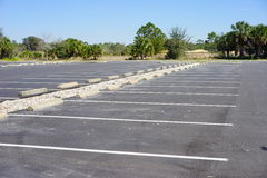 Empty parking lot. In holiday, taken in orlando Royalty Free Stock Image