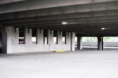 Empty parking lot interior view Stock Photo