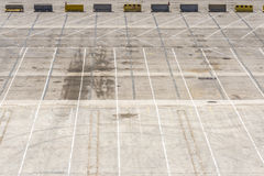 Empty parking lot Royalty Free Stock Image