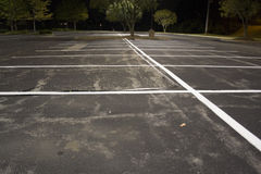 Empty Parking Lot at Night Royalty Free Stock Images