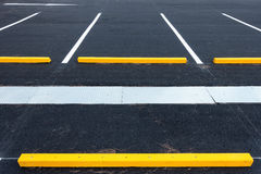 Empty parking lot, Public carpark, Outdoor parking. Stock Photo