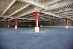 Empty parking lot at a shopping mall Stock Photos