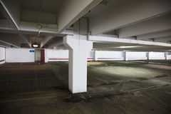 Empty parking lot at a shopping mall Royalty Free Stock Photography