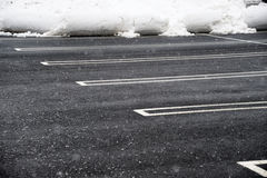 Empty parking lot with snow removed Stock Photography