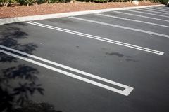 Empty parking lot spaces royalty free stock photo