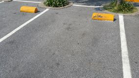 Empty parking lot in sunny day background stock images