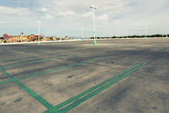 Empty parking lot. In super store Royalty Free Stock Images
