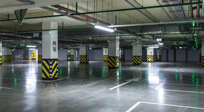 Empty parking lot. Urban, industrial background Stock Photography