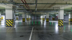 Empty parking lot. Urban, industrial background Stock Image