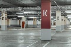 Empty parking lot wall. Urban background. Empty parking lot wall. Urban industrial background stock image