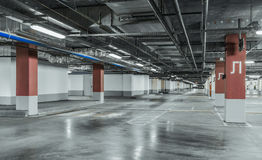 Empty parking lot wall. Urban, industrial background Royalty Free Stock Photography