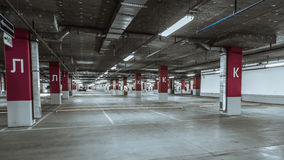 Empty parking lot wall. Urban, industrial. Empty parking lot wall. Urban industrial background royalty free stock images