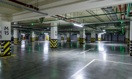 Empty parking lot wall Royalty Free Stock Photography