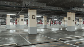 Empty parking lot wall. Urban, industrial background Stock Images