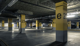 Empty parking lot wall. Urban industrial background.  royalty free stock images