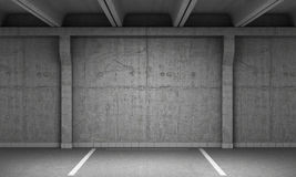 Empty parking lot wall. Urban, royalty free illustration
