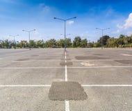 Empty parking lot Stock Photos