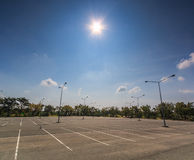 Empty parking lot Stock Images