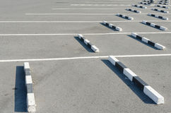 Empty parking lot with white mark Stock Photo