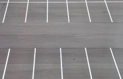 Empty parking lot. White markings in empty parking lot Stock Image
